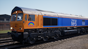 GB Railfreight Class 66 (Thank You NHS with Capt. Tom Moore nameplate)