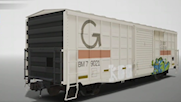 Guilford Rail System 50' Boxcar with Graffiti