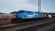 Norfolk Southern Heritage Unit #8098 in Conrail Livery