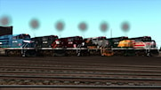 UP Heritage SD70Ace's Weathered (Searchlight Simulations compatible only)