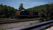 CSX YN3b and YN3 C40-8W and HLCX GP38-2 and SD40-2